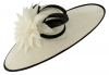 Failsworth Millinery Ascot Saucer Headpiece in White & Black