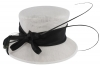Failsworth Millinery Occasion Hat in White & Black