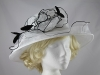 Failsworth Millinery Organza Occasion Hat in White & Black