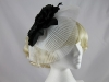 J.Bees Millinery Flower and Veil Headpiece