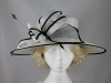 Failsworth Millinery Loops Events Hat in White & Black