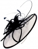 Failsworth Millinery Butterfly Events Disc in White & Navy