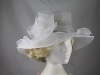 Collapsible Wedding Hat in White
