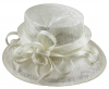 Elegance Collection Sinamay Loops Wedding Hat in White