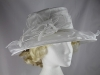 Failsworth Millinery Organza Occasion Hat in White