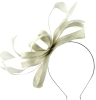 Failsworth Millinery Sinamay Loops Fascinator in White