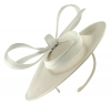 Failsworth Millinery Taffeta Disc in White