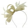 Failsworth Millinery Wide Loops Fascinator in White