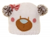 Hawkins Bear Ski Bobble Hat in White