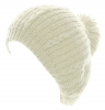 Hawkins Chunky Knit Pom Pom Beanie in White