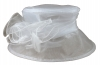 Hawkins Collection Organza Wedding Hat in White