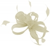Hawkins Collection Sinamay Fascinator in White