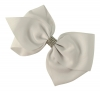 Molly and Rose Large Diamante Hair Bow in White