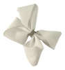 Molly and Rose Medium Diamante Hair Bow in White