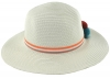 SSP Hats Girls PomPom Straw Hat in White