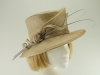 Whiteley Beige Wedding Hat