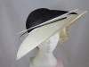 Whiteley Black and Cream Ascot Hat
