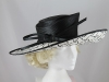 Whiteley Black and White Ascot Hat