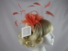 Whiteley Feather Fascinator in Mango