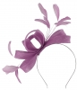 Failsworth Millinery Wide Loops Fascinator in Wisteria