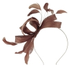 Failsworth Millinery Wide Loops Fascinator in Woodrose