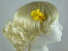 Micro Flower Clip in Yellow
