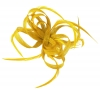 Aurora Collection Loops in Hessian Fascinator in Yellow