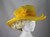 Collapsible Wedding Hat in Yellow