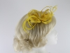 Loops in Hessian Fascinator in Yellow