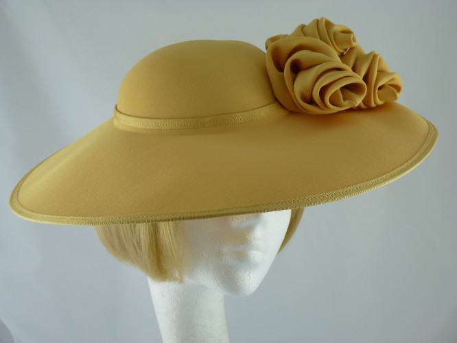 Wedding Hats 4U - Cappelli Condici Ascot hat Mustard Yellow 907b1e2841c