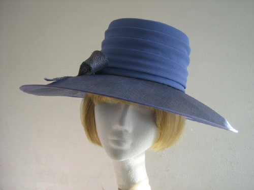 Gina Ascot hat / Formal hat Blue Hyacinthl