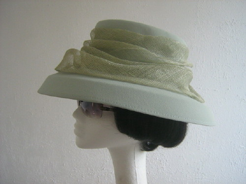 Gina Bacconi Wedding Hat / Mother Of The Bride Hat Green