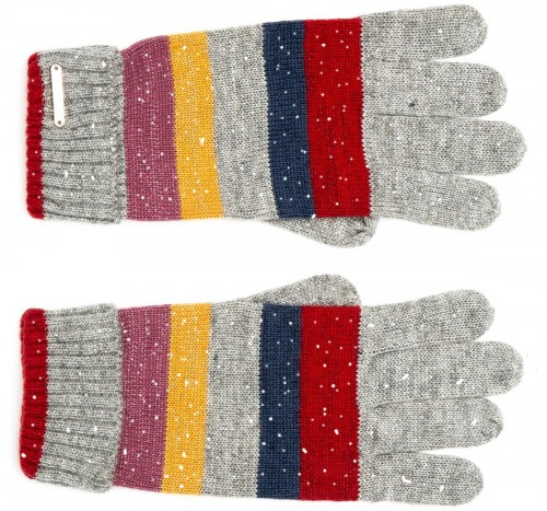 Alice Hannah Laney Stripey Sparkly Gloves