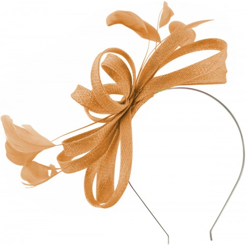 Failsworth Millinery Sinamay Loops Fascinator in Apricot