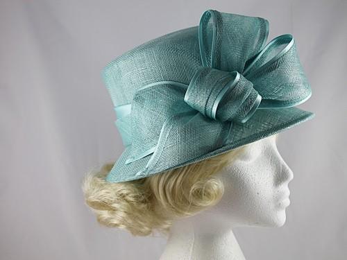 504e8175d2f9f Maddox Wedding Hat in Aqua