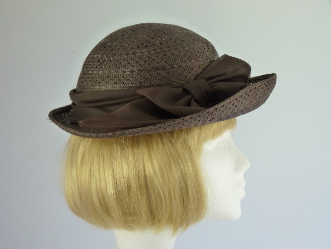 Wedding Hat Small Brown Pattern