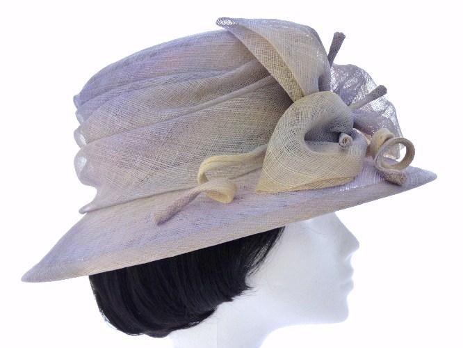 f2c7061474ac8 Wedding hat Blue Grey with Lilac in Grey