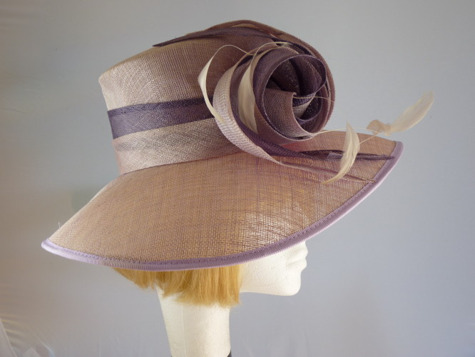 6782efb7 Jacques Vert Ascot hat Lilac and Heather in ... - Wedding Hats 4U