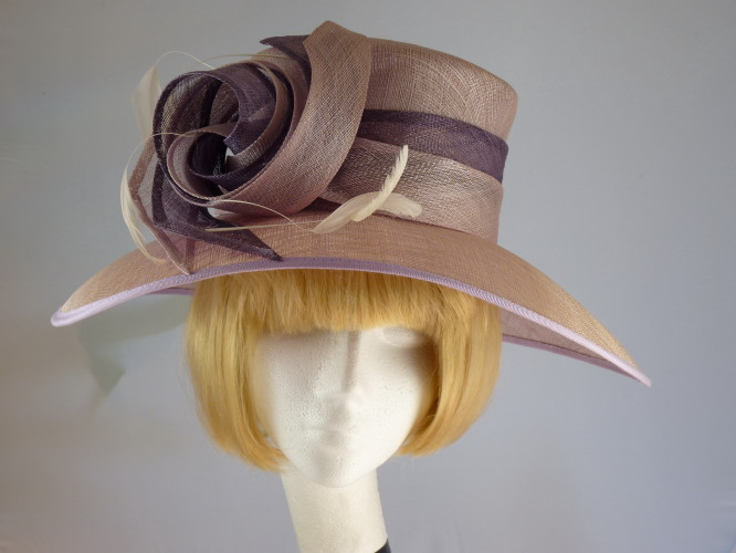 c553d51f Wedding Hats 4U - Jacques Vert Ascot hat Lilac and Heather in ...