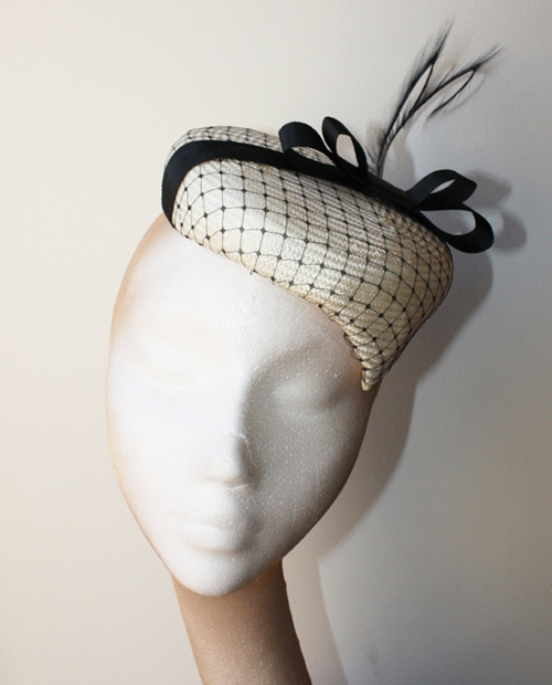 Couture by Beth Hirst Cream Straw Pointed Percher