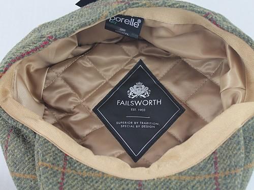 Failsworth Millinery Waterproof Tweed Porelle Cap