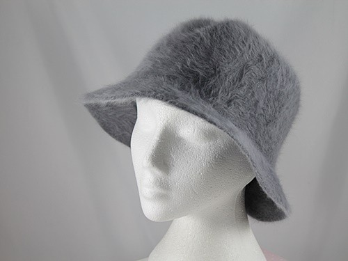 Betmar New York Grey Angora Hat