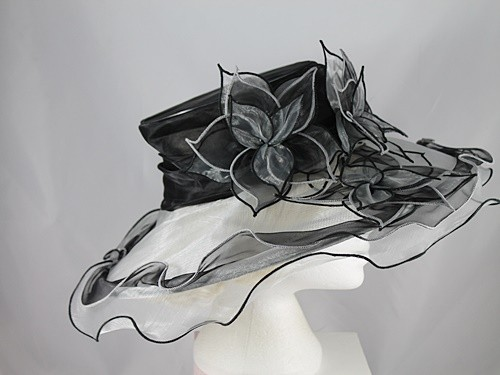 Triple Flower Organza Hat