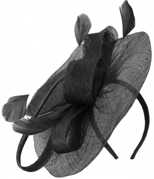 Aurora Collection Aliceband Sinamay Loops Disc Fascinator