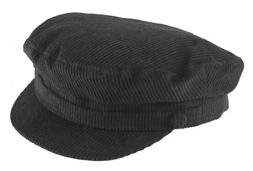 Failsworth Millinery Mariner Cord Cap in Black