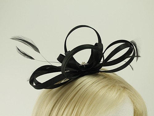 Failsworth Millinery Satin Loops Aliceband Fascinator with Matching Bag