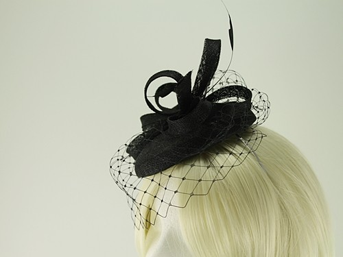 Failsworth Millinery Sinamay Pillbox with Matching Sinamay Occasion Bag