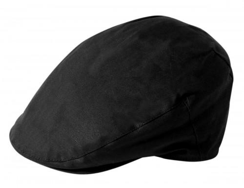 Failsworth Millinery Wax Flat Cap in Black