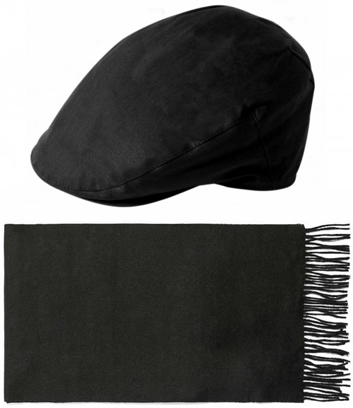 Failsworth Millinery Wax Flat Cap with Matching Lambswool Scarf