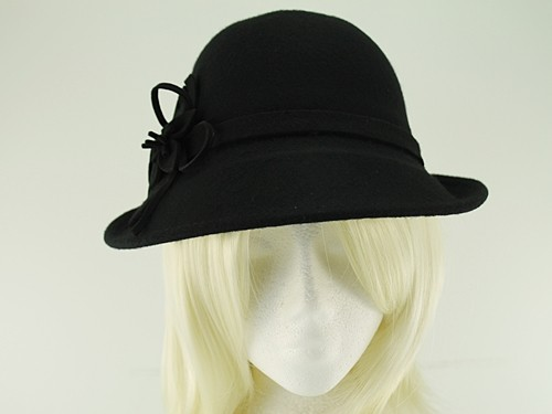 Hawkins Collection Wool Felt Vintage Cloche Bucket Hat